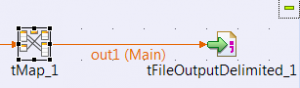 Connect tMap and tFileOutputDelimited